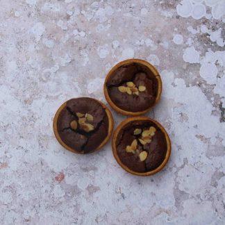 chocolate and almond tart