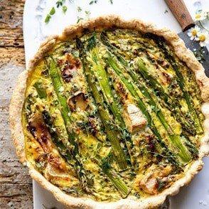 asparagus and brie quiche